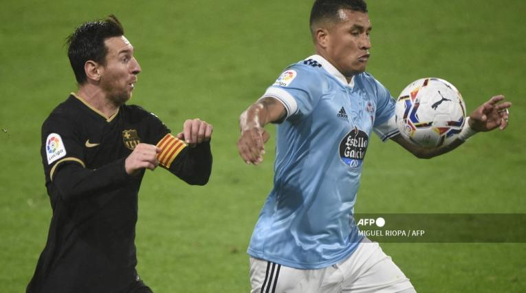 Jeison Murillo y Lionel Messi