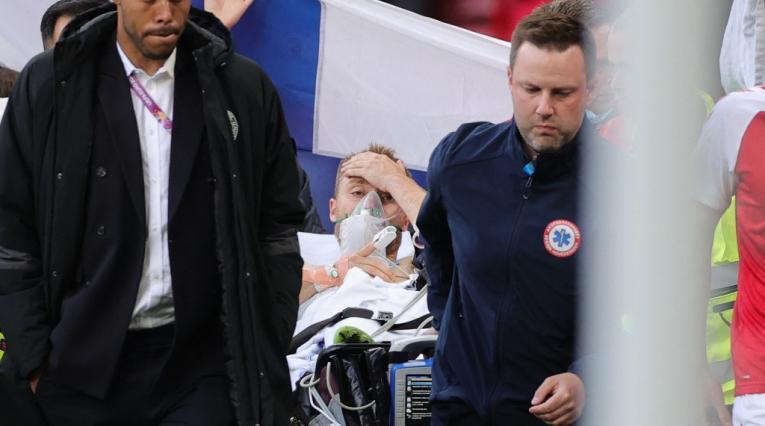 Christian Eriksen, Dinamarca vs Finlandia, Eurocopa 2021