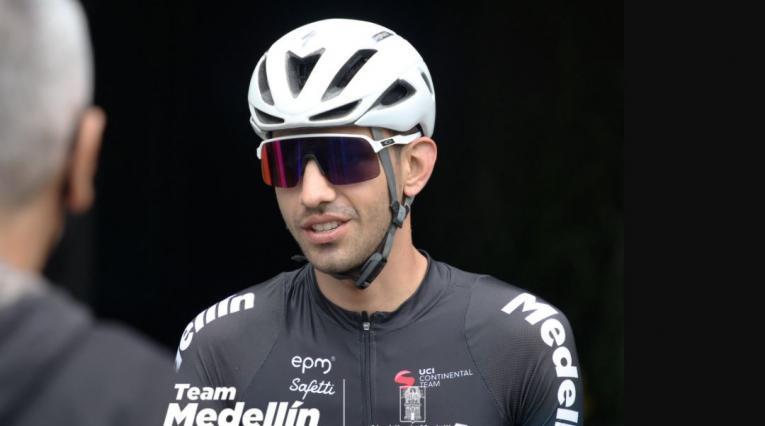 Walter Vargas, ciclista del Team Medellín