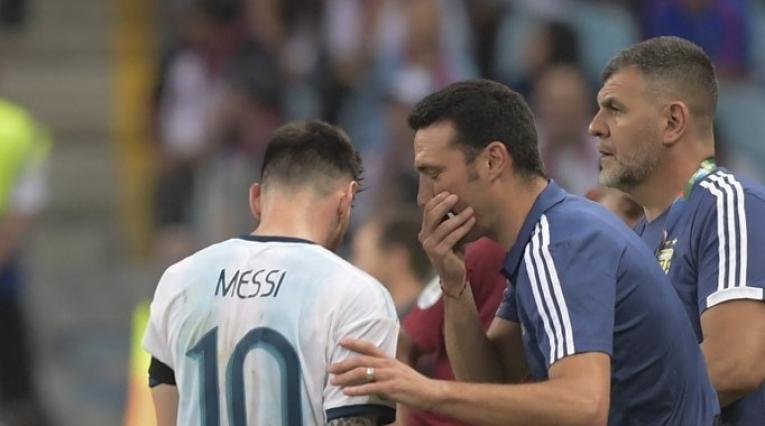 Lionel Scaloni y Lionel Messi