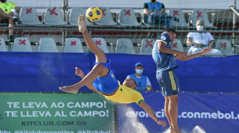 Colombia Vs. Brasil - fútbol playa