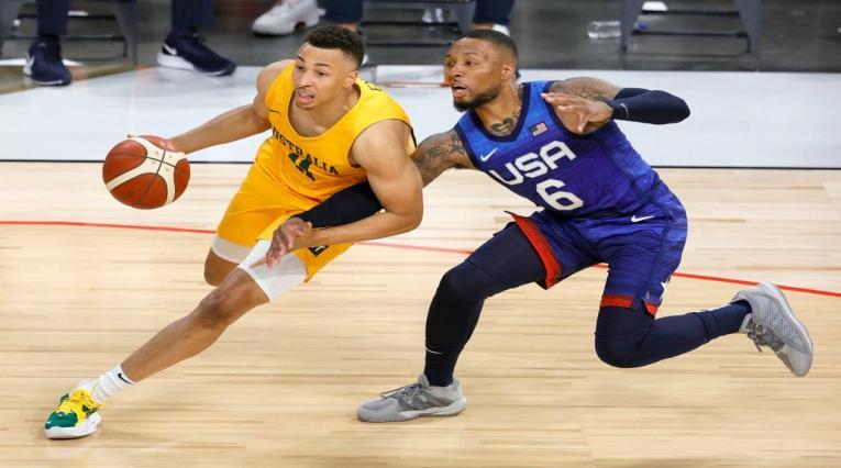 Equipo olímpico de baloncesto de Estados Unidos.