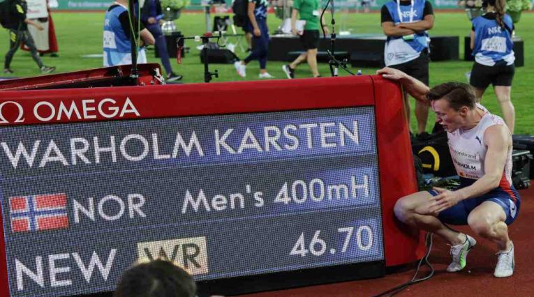 Karsten Warholm, impuso nuevo récord en los 400 metros vallas