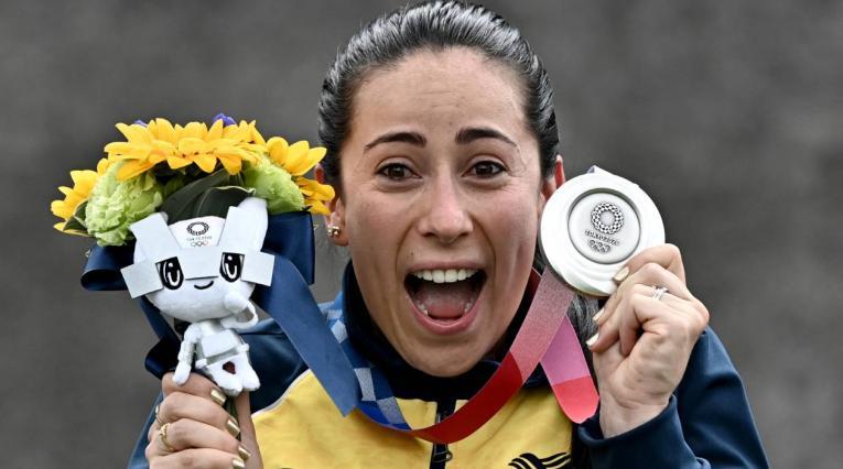 Mariana Pajón ganó medalla de plata en los Juegos Olímpicos de Tokio