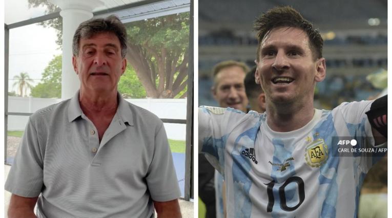 Mario Alberto Kempes y Lionel Messi