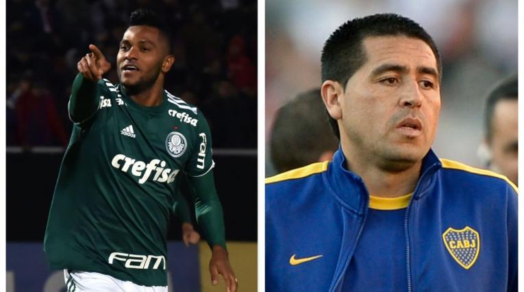 Miguel Ángel Borja y Juan Román Riquelme