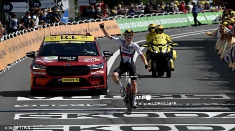 Mohoric, ganador de la etapa 19 del Tour de Francia