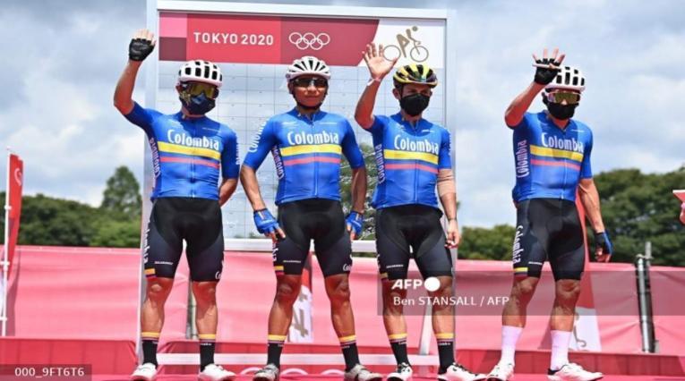 Selección Colombia de Ciclismo en Tokio