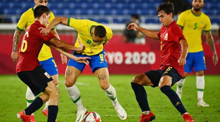 España vs Brasil, fútbol Juegos Olímpicos