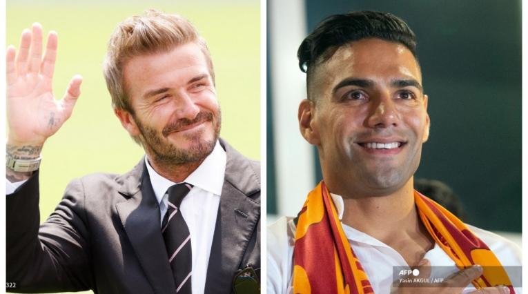 David Beckham y Falcao García