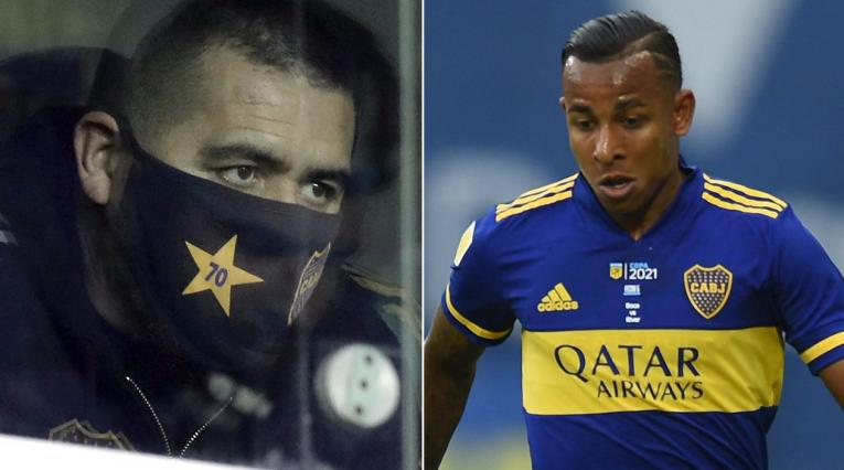Juan Román Riquelme, Sebastián Villa, Boca Juniors