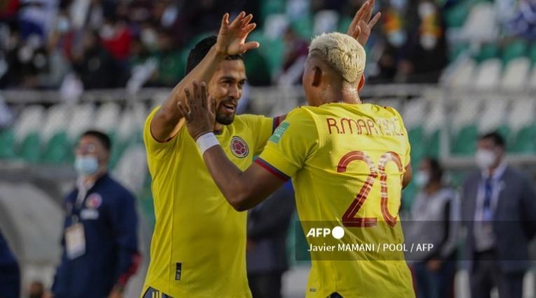Andrés Andrade y Roger Martínez en Selección Colombia
