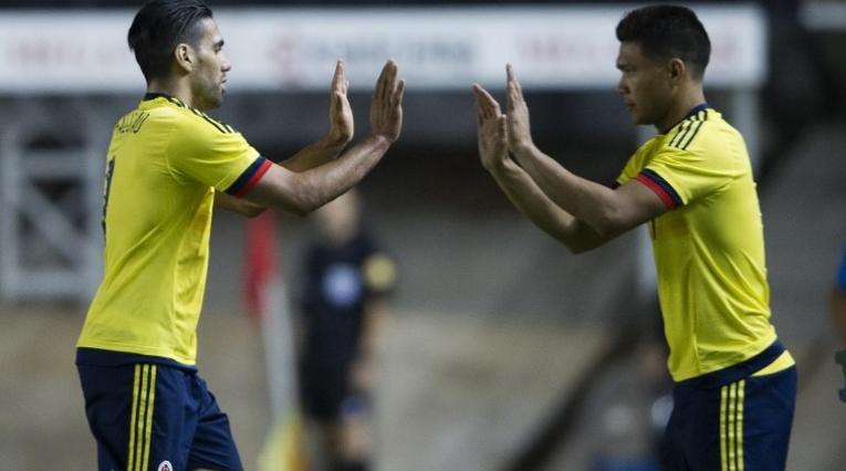 Teo Gutiérrez y Falcao, Selección Colombia