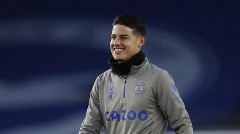 James Rodríguez en Everton