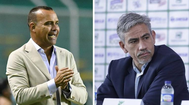 Marco Caicedo y Rafael Dudamel