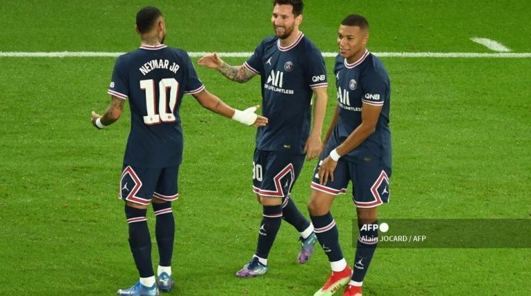Neymar, Messi y Mbappé