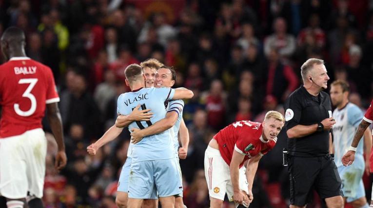 West Ham le ganó a Manchester United