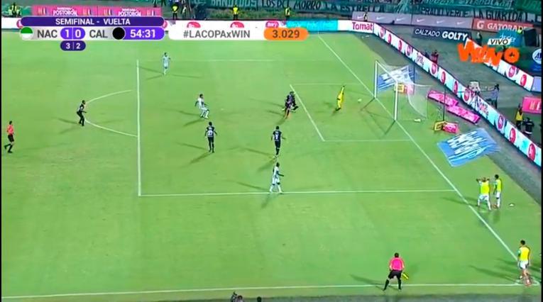 Gol Atlético Nacional, Deportivo Cali, Copa Betplay