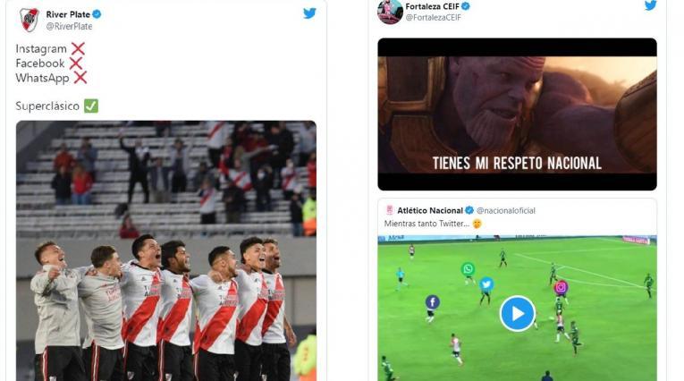 Memes cuentas de fútbol, caída de WhatsApp
