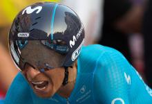 Nairo Quintana tras la crono en la Vuelta a España 2018