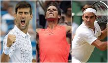 Novak Djokovic, Rafael Nadal y Roger Federer