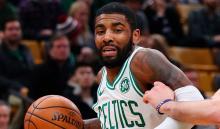 Kyrie Irving en el partido donde los Celtics vencieron a los Raptors