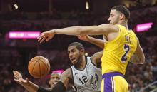 Spurs de San Antonio y los Ángeles Lakers
