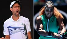 Novak Djokovic y Serena Williams ya piensan en los octavos de final del Abierto de Australia