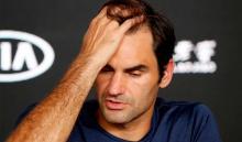 Roger Federer en rueda de prensa, luego de su eliminación en el Abierto de Australia
