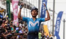 Nairo Quintana, ganador de la última etapa del Tour Colombia.