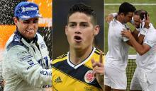 Juan Pablo Montoya, James Rodríguez, Cabal Farah