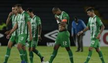 Atlético Nacional - jugadores cabizbajos