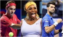 Federer, Serena y Djokovic