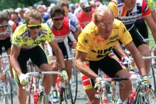 Greg Lemond y Fignon disputan el Tour de Francia de 1989