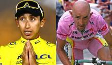 Egan Bernal y Marco Pantani