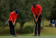 Tiger y Charlie Woods