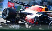 Accidente entre Hamilton y Verstappen.