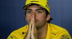 El piloto español Carlos Sainz en rueda de prensa previo al Gran Premio de Fórmula Uno de España