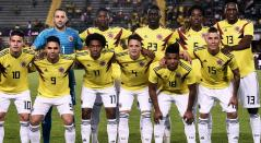 Selección Colombia en un compromiso amistoso previo al Mundial de Rusia 2018