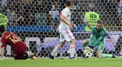 David De Gea atajando en el partido Portugal Vs España