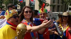 Hinchas de la Selección Colombia antes de la inauguración del Mundial