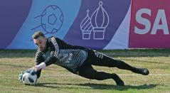 Franco Armani entrenando para el Mundial Rusia 2018