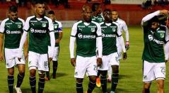 Jugadores del Deportivo Cali tras una derrota en la Liga Águila