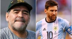 Maradona y Lionel Messi