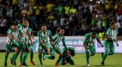 Atlético Nacional celebrando el paso a la final