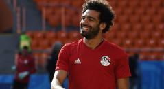 Mohamed Salah, delantero de Egipto en concentración con su selección