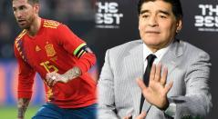 Sergio Ramos y Diego Maradona