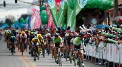 La Vuelta a Colombia llegando a Cota (Cundinamarca) el 25 de junio de 2016