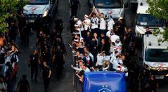 Francia es recibida en París tras ganar el Mundial de Rusia 2018