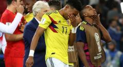 Johan Mojica después del juego de octavos de final del Mundial de Rusia